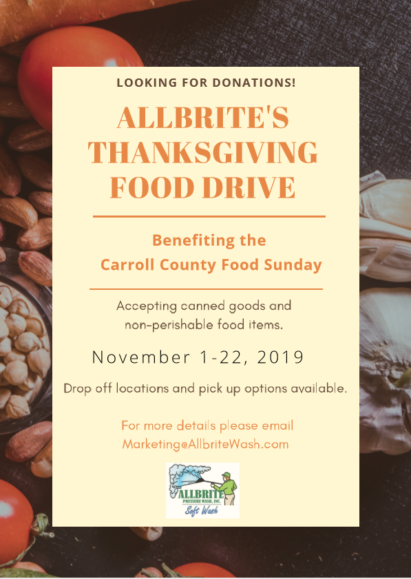 Allbrite's Thanksgiving Food Drive