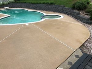 Pool Concrete After Cleaning